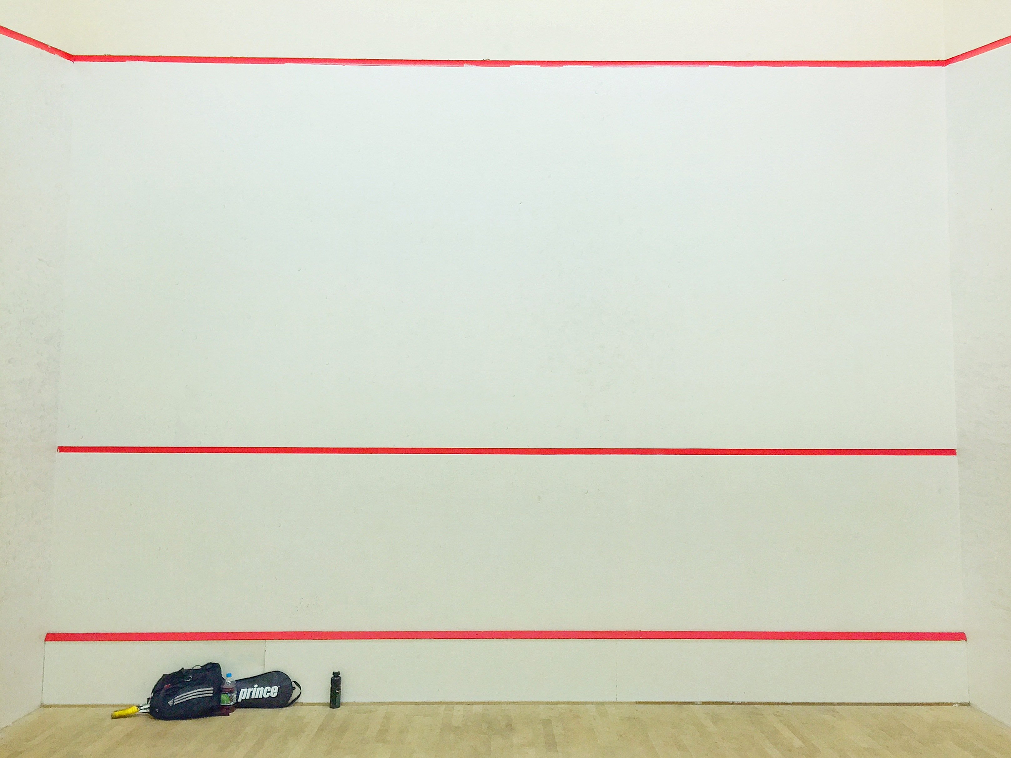 Squash Court front Wall and service lines