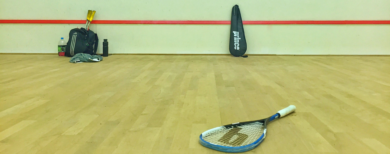 Squash Court and Racquet