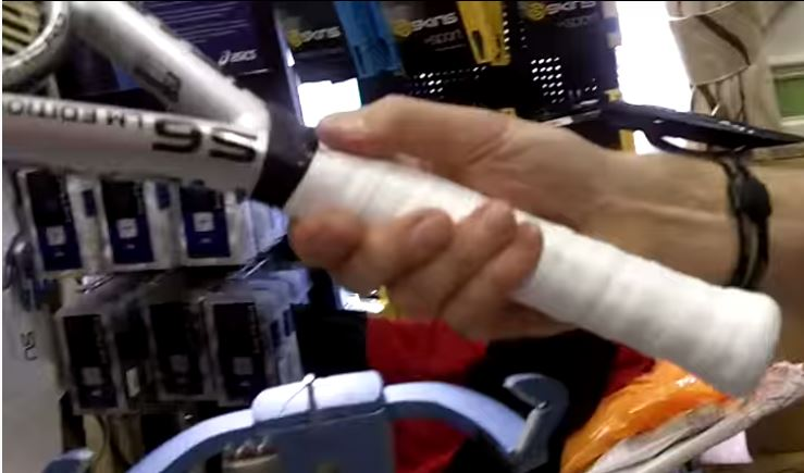 How to fit a new grip to squash racquet
